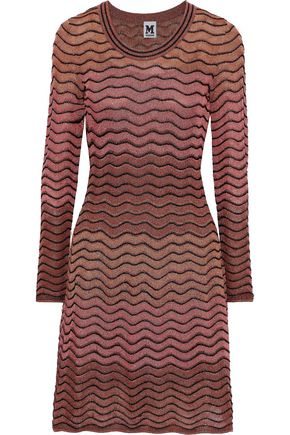M MISSONI Metallic ombré crochet-knit dress
