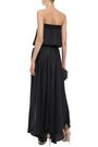 HALSTON HERITAGE Strapless shirred cady gown