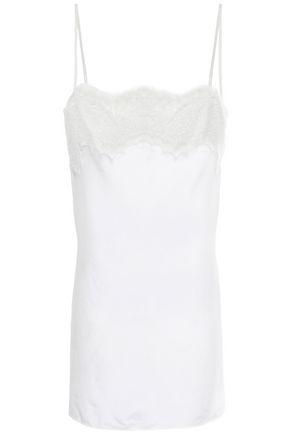 FAITH CONNEXION Lace-trimmed silk camisole