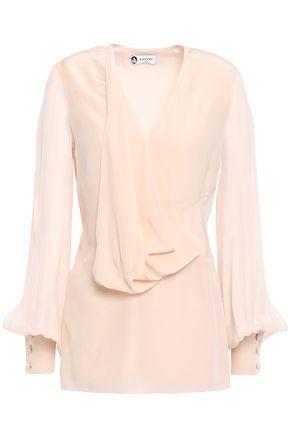 LANVIN Draped silk-chiffon blouse