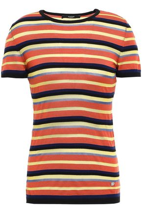 VERSUS VERSACE Striped knitted top