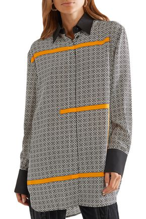 GIVENCHY Oversized printed silk crepe de chine shirt