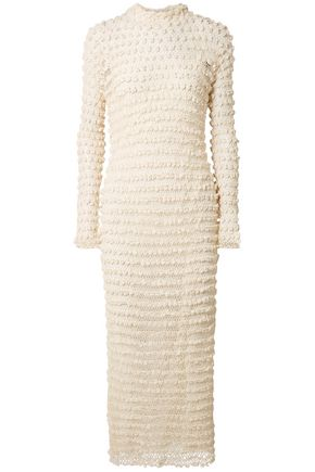 THE ROW Crocheted silk-blend gown