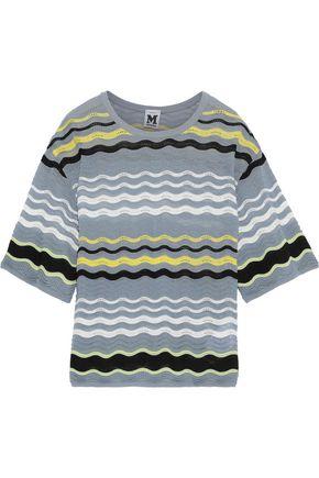 M MISSONI Striped crochet-knit top