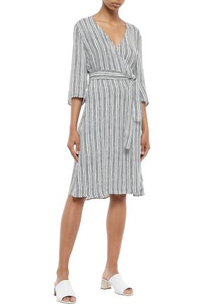 IRIS & INK Helga printed crepe de chine wrap dress