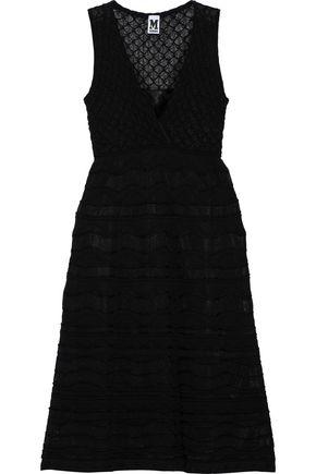 M MISSONI Wrap-effect crochet-knit cotton-blend dress