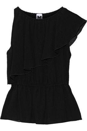 M MISSONI Ruffled silk-gauze peplum blouse