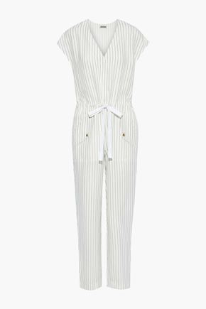 JASON WU Gathered pinstriped poplin jumpsuit