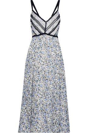 a24a917cceb2b7 JASON WU Georgette-trimmed floral-print silk-jacquard midi dress