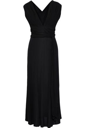 TOME Belted jersey maxi dress