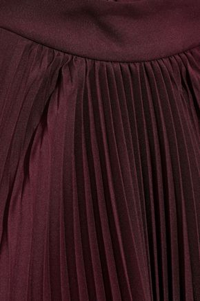 TOME Asymmetric draped pleated crepe de chine top
