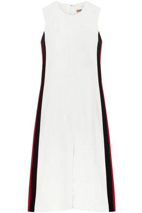 BURBERRY Striped crepe midi dress