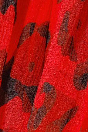TOM FORD Tiered leopard-print silk-crepon mini dress