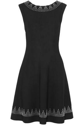 ALAÏA Studded stretch-knit mini dress