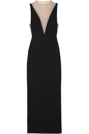 STELLA McCARTNEY Crystal-embellished mesh and cady gown