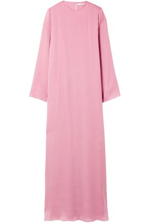 THE ROW Antoi washed silk-charmeuse gown
