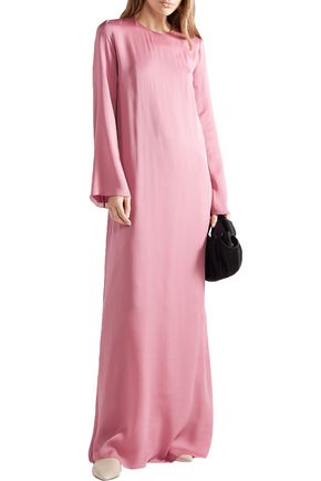 The Row Antoi Washed Silk-charmeuse Gown In Pink