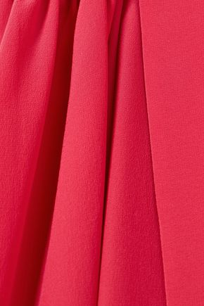 FENDI Cold-shoulder silk crepe de chine mini dress