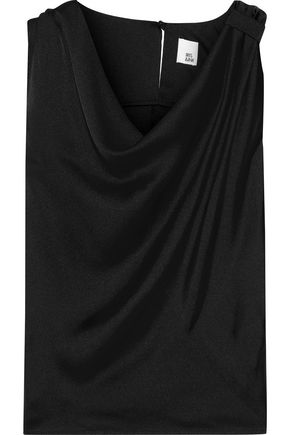 IRIS & INK Sanna draped satin top