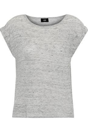 LINE Mélange linen-jersey T-shirt