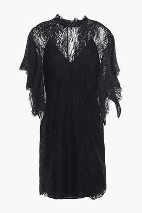 IRO Cotton-blend lace mini dress
