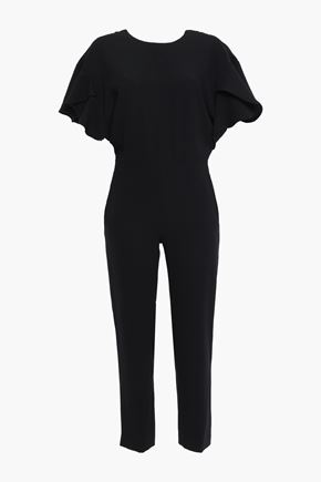 IRO Open-back ruffled crepe jumpsuit
