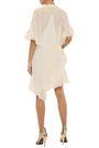 IRO Revolve ruffled fil coupé silk-blend chiffon mini dress