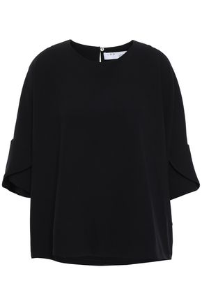 IRO Oversized ruffled crepe blouse