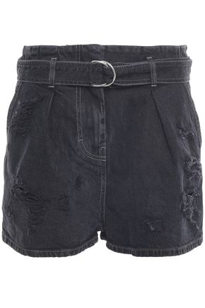 IRO Distressed denim shorts