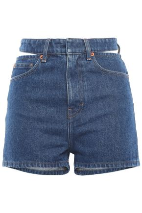 IRO Cutout denim shorts
