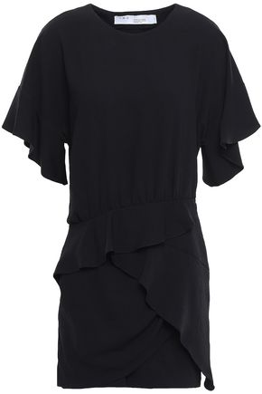 IRO Ruffled crepe mini dress