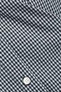 FRAME One-shoulder gingham cotton-poplin top