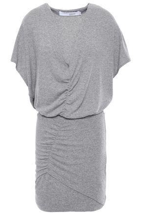IRO Ruched mélange jersey mini dress