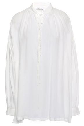 IRO Gathered modal-twill blouse