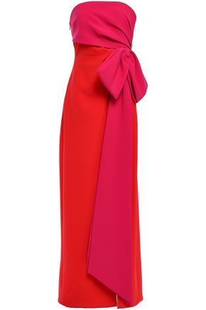 SACHIN & BABI Bow-embellished two-tone crepe gown