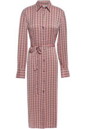 EQUIPMENT Rosalee checked washed silk-blend shirt dress