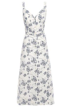 EQUIPMENT Printed cotton-blend midi dress