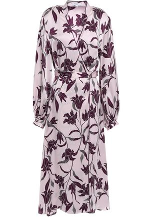 EQUIPMENT Andrese floral-print silk-satin wrap dress