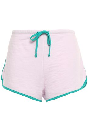 WILDFOX French cotton-blend terry shorts
