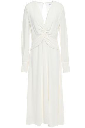 EQUIPMENT Faun twisted stretch-crepe midi dress