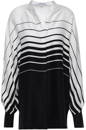 EQUIPMENT Sedaine striped silk-blend blouse