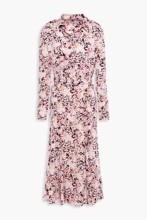 EQUIPMENT Bancort floral-print crepe de chine midi dress