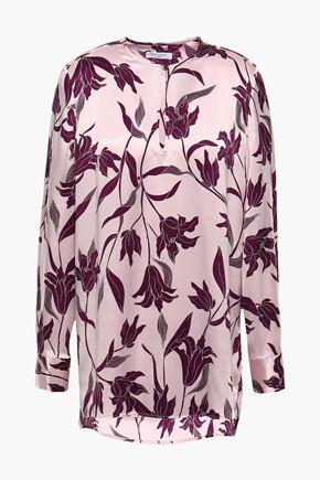 EQUIPMENT Printed silk-satin blouse