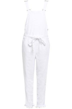 FRAME Belted denim overalls