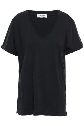FRAME Slub stretch-cotton jersey T-shirt
