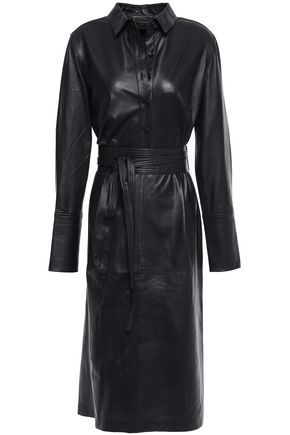 EQUIPMENT Orelie belted leather dress