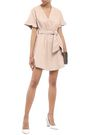 IRO Paz wrap-effect crinkled-leather mini dress