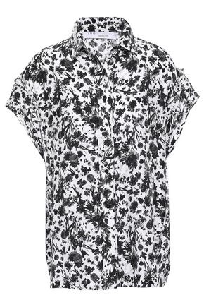 IRO Printed crepe de chine blouse