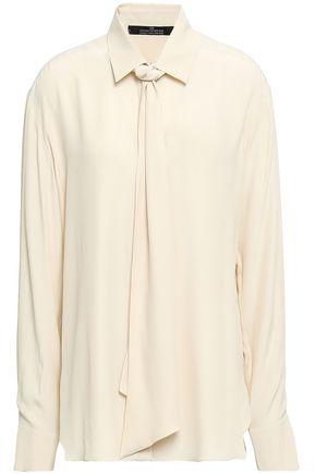 ROKH Snake-print silk crepe de chine blouse