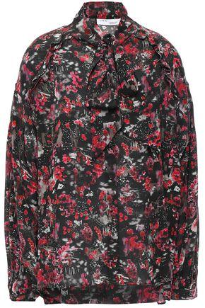 IRO Equinox pussy-bow floral-print silk crepe de chine blouse